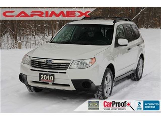 2010 Subaru Forester 2 5 X White For 10997 In Kitchener