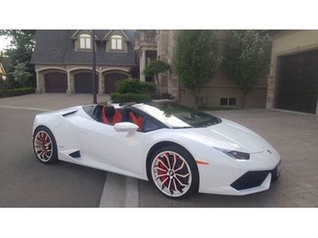 2016 Lamborghini Huracan Spyder One Of A Kind Fully Jammed White