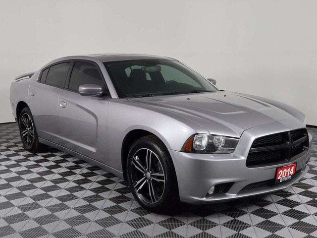 2014 Dodge Charger Sxt Awd Power Sunroof Local Trade Silver For