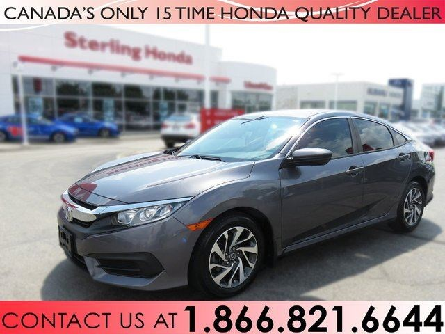 2016 Honda Civic Sedan Ex 1 Owner No Accidents Tint Low Km S Grey For 19988 In Hamilton Thespec