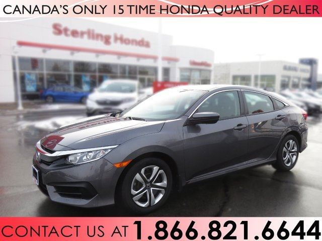 2017 Honda Civic Sedan Lx 1 Owner No Accidents Grey For 19588 In