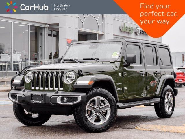 2021 Jeep Wrangler Sahara Leather Advanced Safety Led Light Dual Top Navi Green For 56855 In Thornhill Parrysound Com