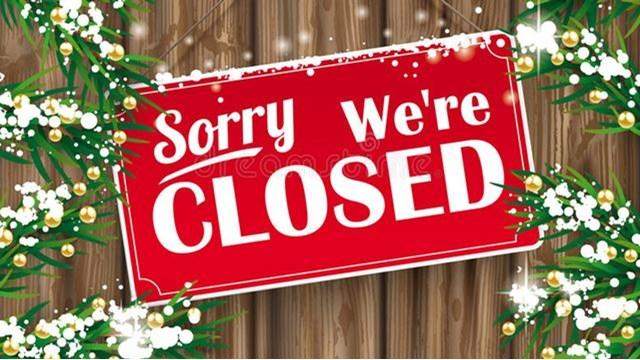 closed in Niagara over Christmas