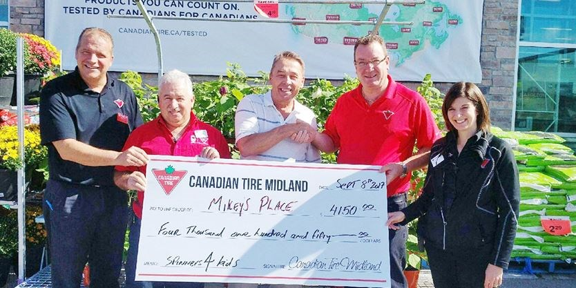 midland canadian tire donates $4,150 fidget spinner proceeds to ...
