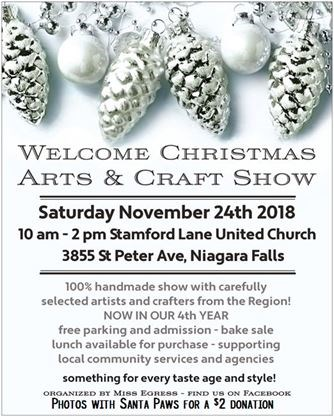Welcome Christmas Arts and Craft Show Niagara Falls on