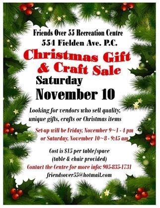 Christmas Gift & Craft Sale on November 10,2018   TheSpec.com