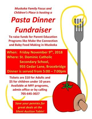 pasta dinner fundraiser on november 09 2018 guelphmercury com