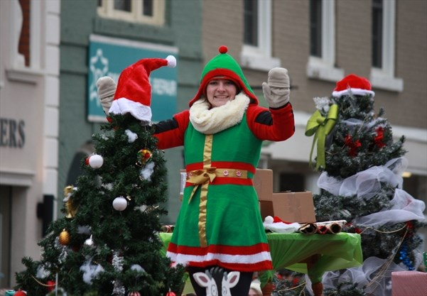 d78181cc61b An elf waves to the crowd from the College Royal Society float. - Jessica  Lovell Metroland