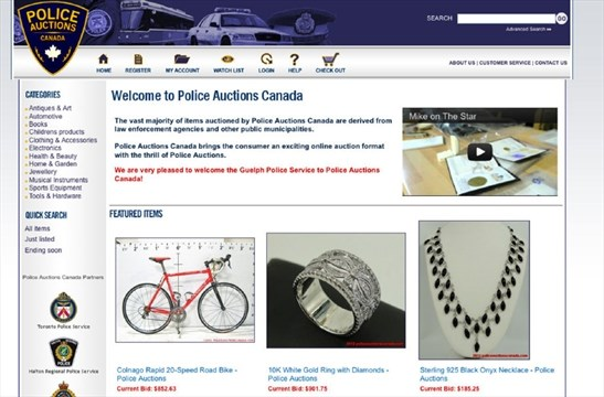 1a2c11f2dc06 Guelph Police moves into the online auction world | GuelphMercury.com