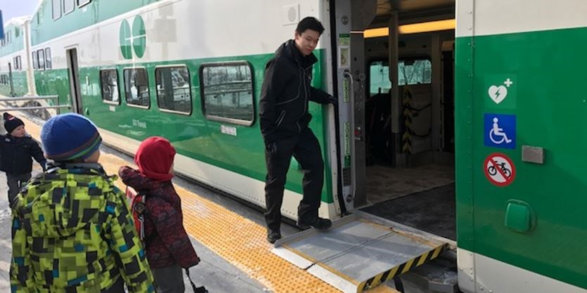 First GO Train Rolls Into New Downsview Park Station