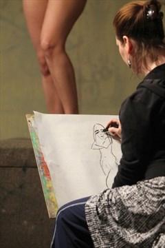 Consider, nude art models posing