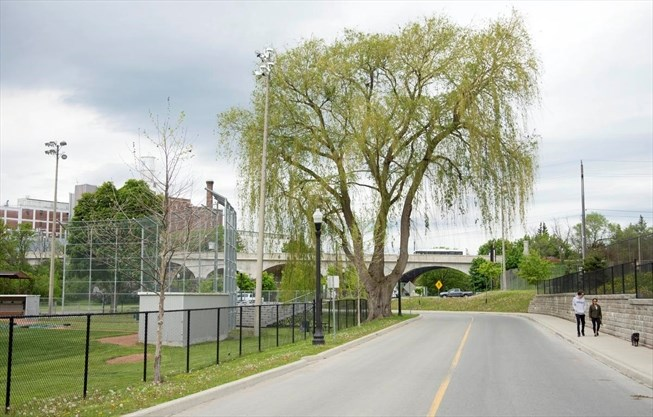 Riverside Park area in Peterborough now a cultural heritage