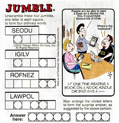 photograph relating to Printable Jumble Puzzles identify Will allow receive geared up in direction of Jumble! WellandTribune.ca