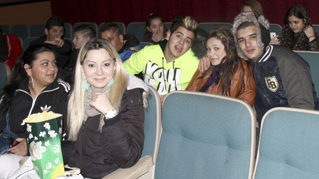Students gather for movie screening about Roma children being