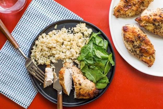 greek flavours elevate simple roasted chicken breasts. Black Bedroom Furniture Sets. Home Design Ideas