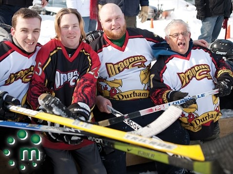 pond hockey fundraiser scores in port perry durhamregioncom