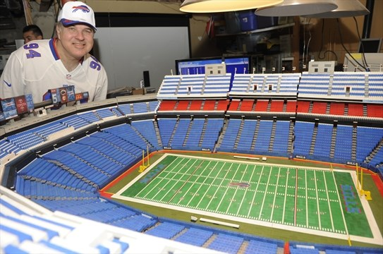 Oakville man builds giant football stadium out of LEGO ...
