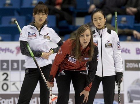 Canada's Homan closing in on world curling playoff berth