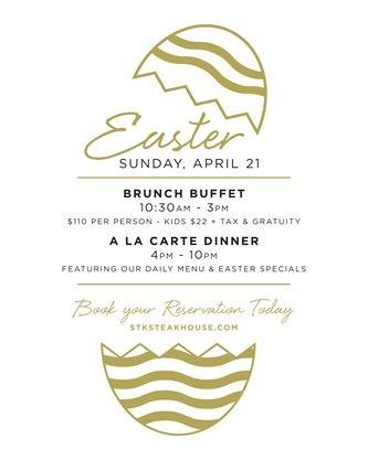 Prime Easter Brunch At Stk Steakhouse On April 21 2019 Toronto Com Download Free Architecture Designs Terchretrmadebymaigaardcom