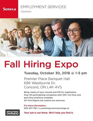 Vaughan Fall Hiring Expo On October 30 2018