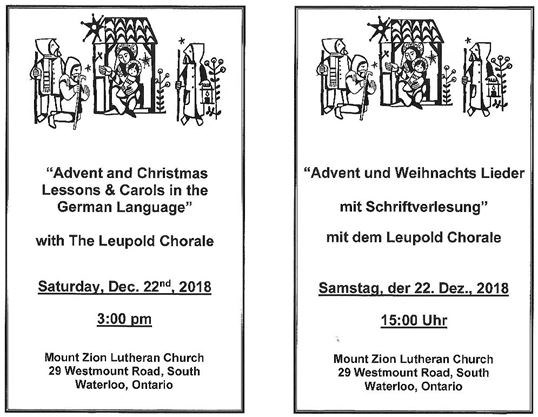 Christmas Readings.Advent Christmas Readings And Carols In German Advent