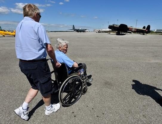 War vet's Lancaster wish is granted at Hamilton's warplane