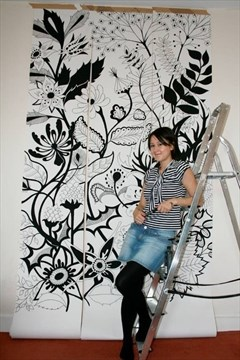 Basford In Studio Scottish Illustrator Johanna