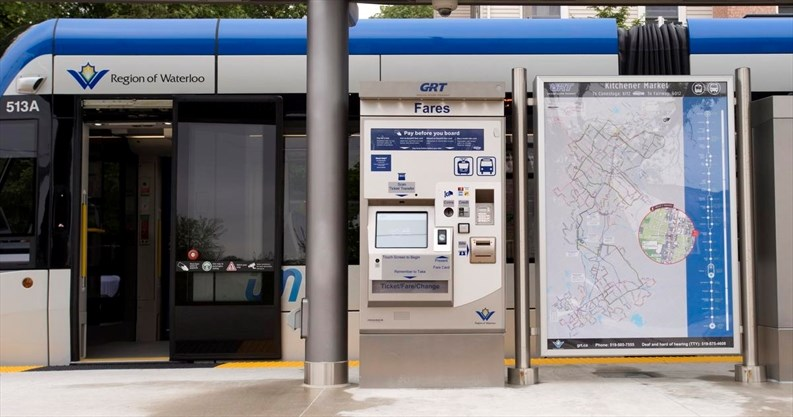 Fare Machines At Ion Stations In Kitchener And Waterloo
