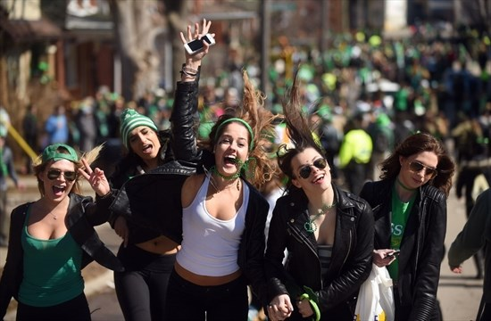 people celebrate st patrick s day on ezra avenue in waterloo in 2015 david bebee record file photo