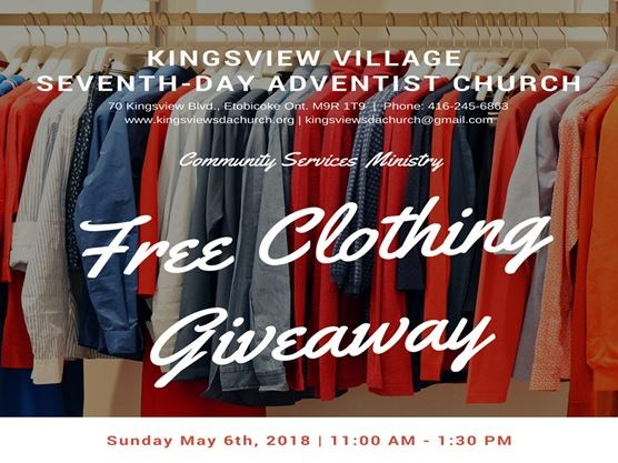 Free Clothing Giveaway On May 06 2018 Toronto Com