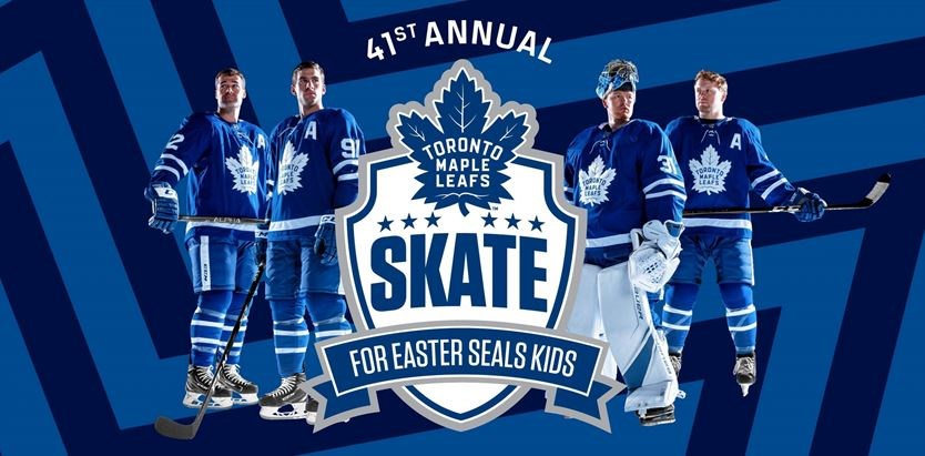 promo code cf94f 4c774 Toronto Maple Leafs Skate for Easter Seals Kids on November ...