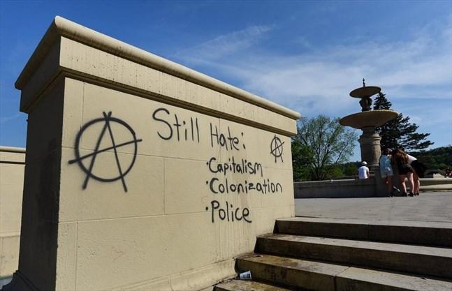 Graffiti raises speculation about anarchism