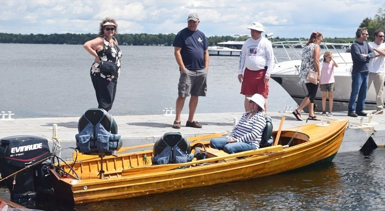 Canadas Oldest Aluminum Boat Pulls Into Rideau Ferry For Classic