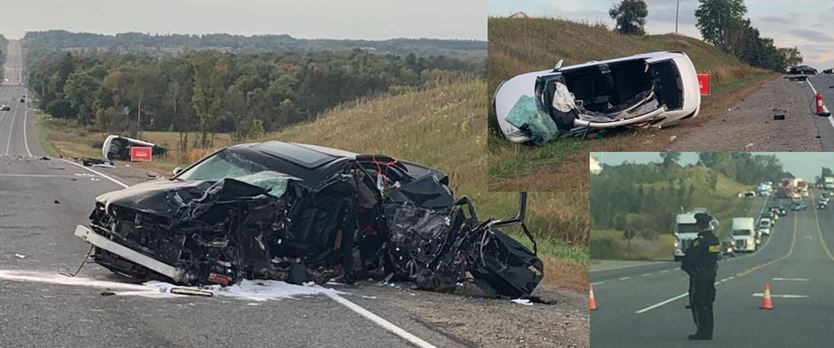 1 seriously hurt, 3 more injured — Caledon OPP investigate