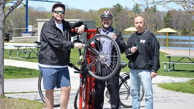 New bicycle repair stations on Orillia trails