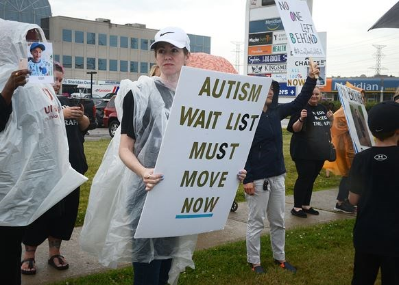 Durham parents protest 6 months of autism funding woes
