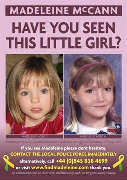 Could body found in suitcase be little Madeleine McCann