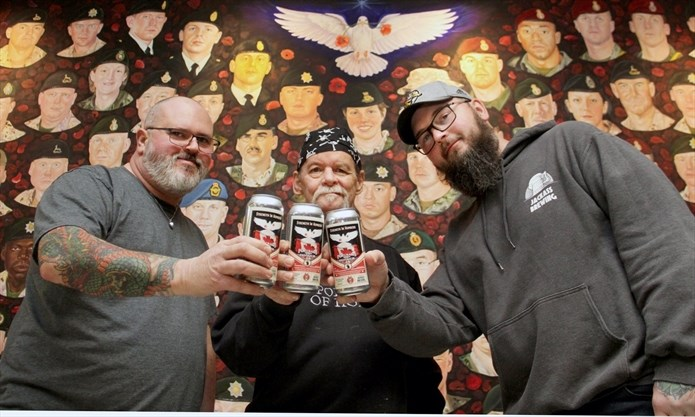 Jackass Brewing and Cambridge artist Dave Sopha 'draught' partnership for PTSD fundraiser:Artist teams up with local craft brewery to create Portraits of Honour beer