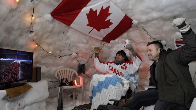 An Olympic Size Igloo Kitchener Residents Will Watch