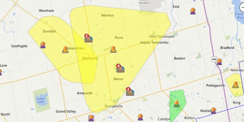 Heavy Winds Knock Out Power To 9 500 Hydro One Customers In