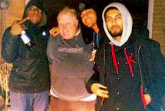 "Photo of Toronto Mayor Rob Ford taken outside what police call ""drug"