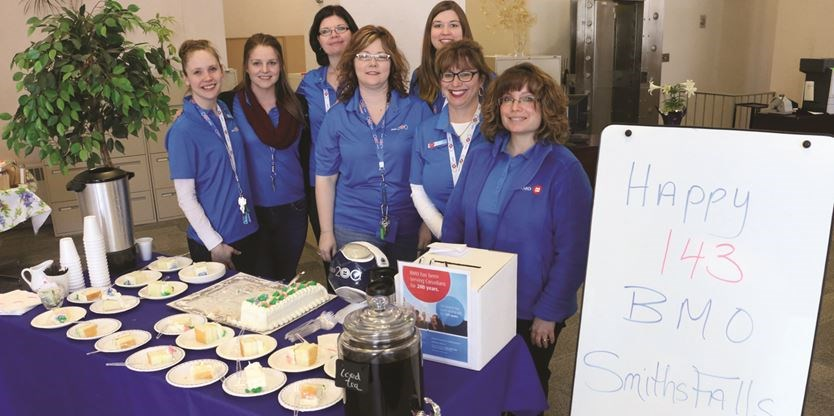 Smiths Falls BMO branch celebrates 143 years in business