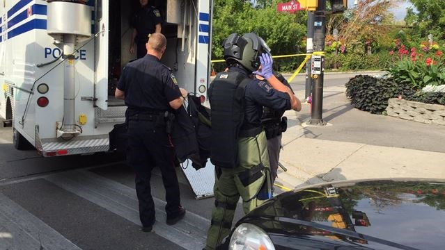 UPDATE: Bomb squad uses water cannon to destroy