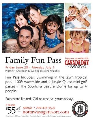 Canada Day Family Fun Pass @ Nottawasaga Resort