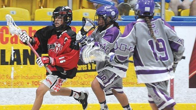 More detail Ontario midget lacrosse shoulders down