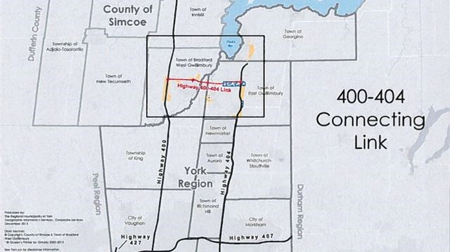 400 404 Link Would Likely Be Toll Road If Built York