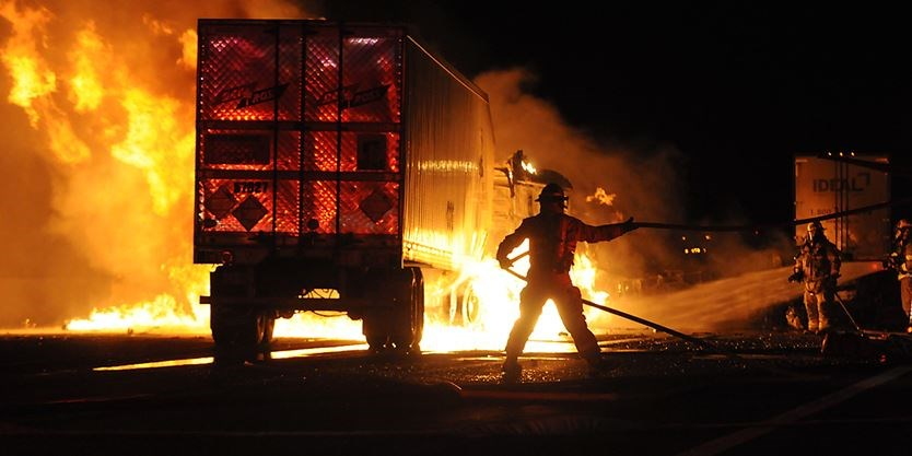 News Trucker charged in fiery crash that killed Newcastle man