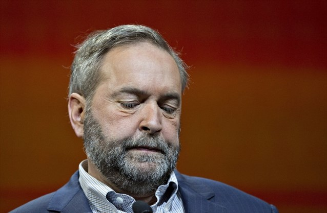 The accidental takedown of the NDP's Thomas Mulcair