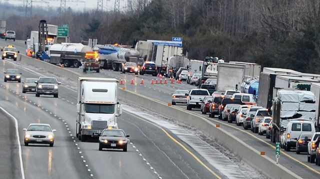 Update: Two left lanes now open on eastbound Hwy 401 at Newcastle