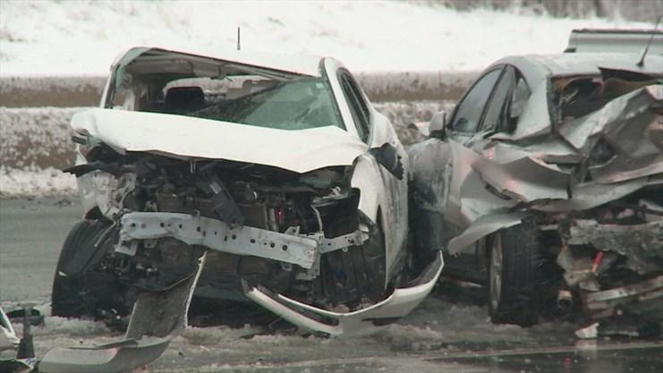 Brampton senior killed in multi-vehicle Hwy  403 crash in Mississauga